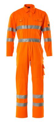 00419-860-14 Boilersuit with kneepad pockets - hi-vis orange