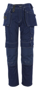 06131-630-01 Trousers with kneepad pockets and holster pockets - navy