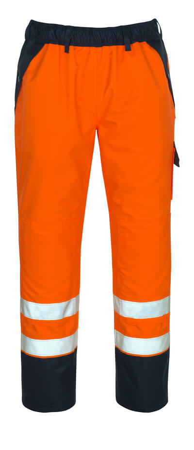 07090-880-141 Over Trousers with kneepad pockets - hi-vis orange/navy
