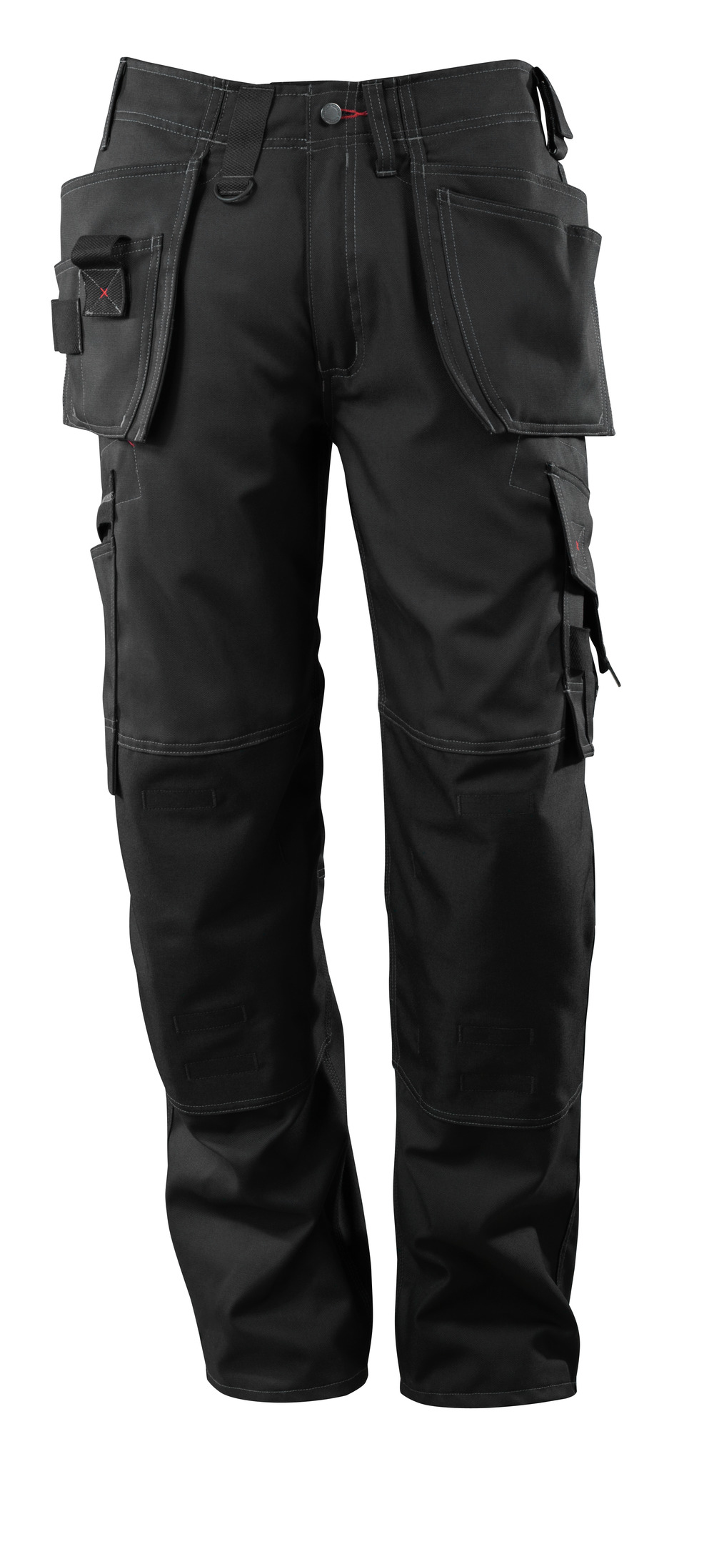 07379-154-09 Trousers with kneepad pockets and holster pockets - black