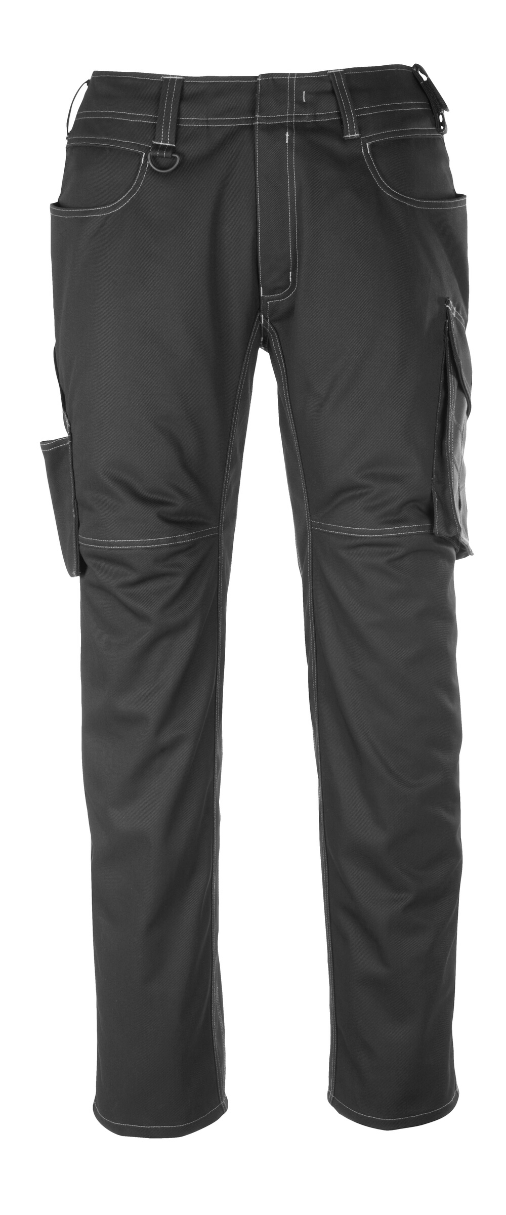 12079-203-0918 Trousers with thigh pockets - black/dark anthracite