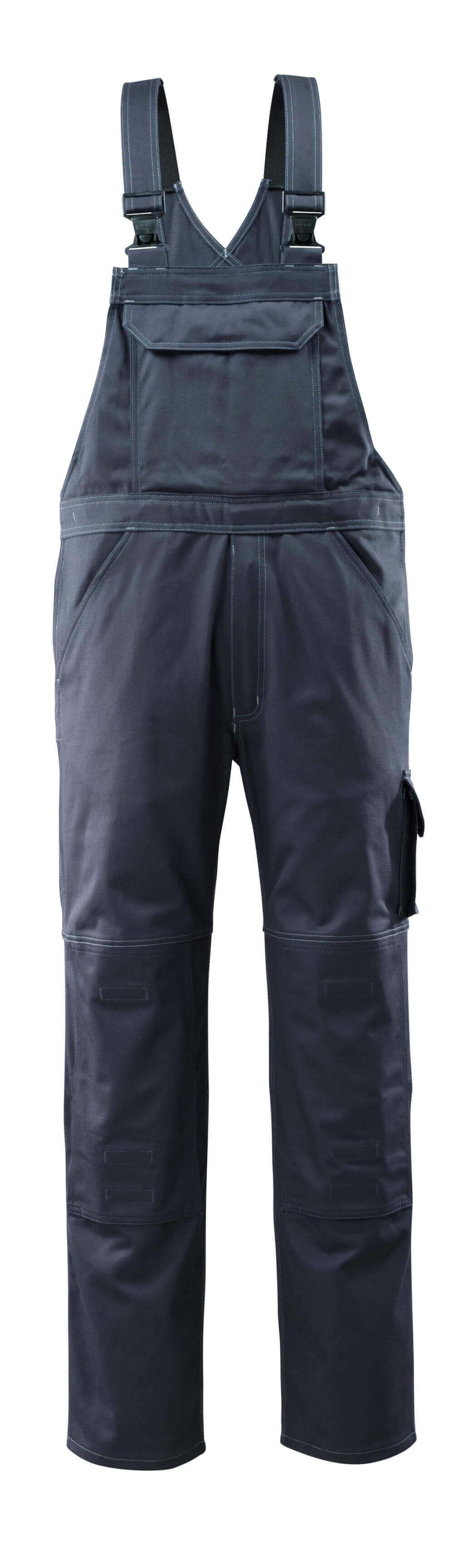 12362-630-010 Bib & Brace with kneepad pockets - dark navy