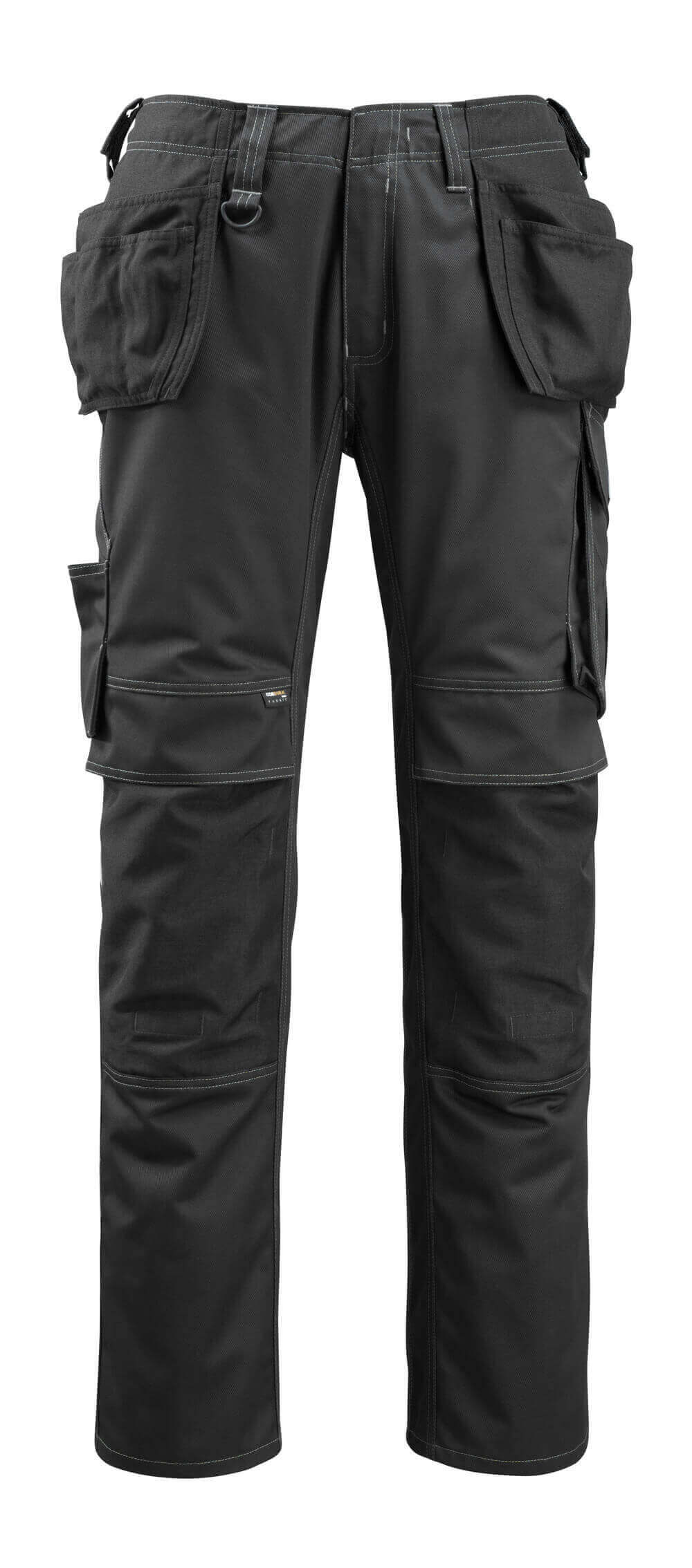 14131-203-09 Trousers with kneepad pockets and holster pockets - black