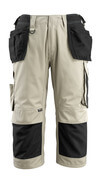 14349-442-5509 ¾ Length Trousers with kneepad pockets and holster pockets - light khaki/black