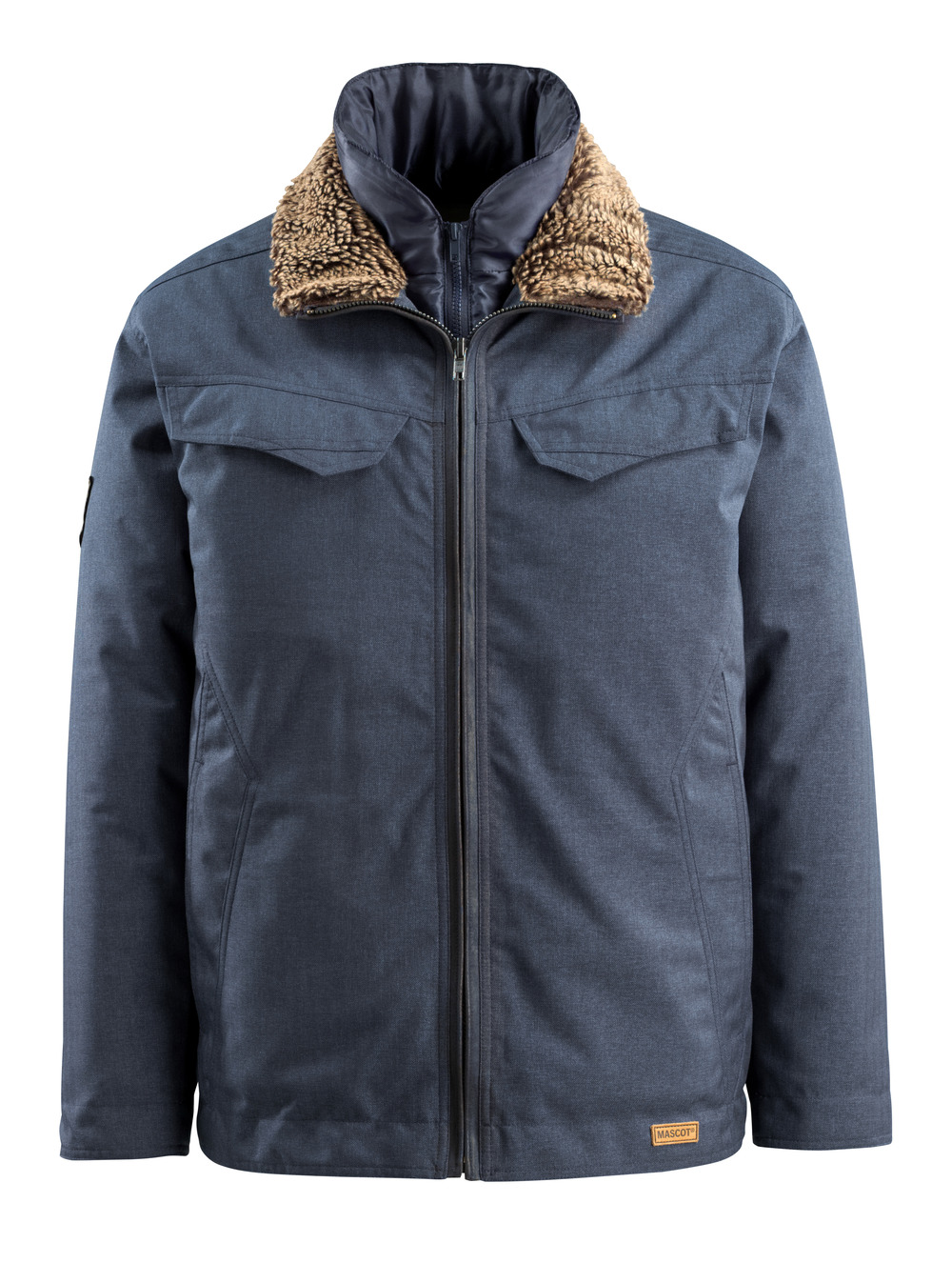 15435-275-46 Winter Jacket - indigo denim blue