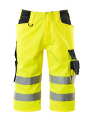 15549-860-17010 Shorts, long - hi-vis yellow/dark navy
