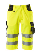 15549-860-1709 Shorts, long - hi-vis yellow/black