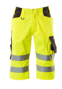 15549-860-1718 Shorts, long - hi-vis yellow/dark anthracite