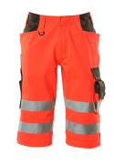 15549-860-22218 Shorts, long - hi-vis red/dark anthracite