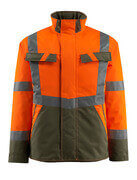 15935-126-1433 Winter Jacket - hi-vis orange/moss green