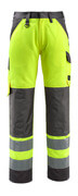 15979-948-1718 Trousers with kneepad pockets - hi-vis yellow/dark anthracite