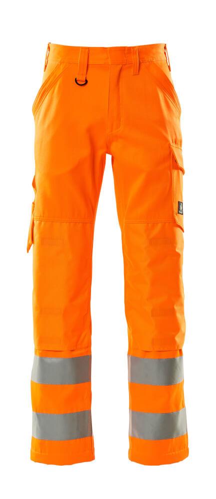 16879-860-14 Trousers with kneepad pockets - hi-vis orange