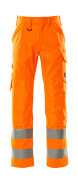 16879-860-14 Trousers with kneepad pockets - hi-vis orange