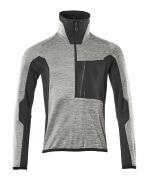 17003-316-0809 Fleece Jumper with half zip - grey toned/black