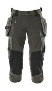 17049-311-18 ¾ Length Trousers with kneepad pockets and holster pockets - dark anthracite