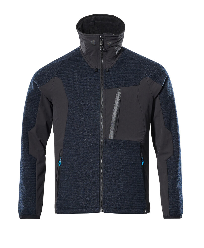 17105-309-01009 Knitted Jacket with zipper - dark navy/black