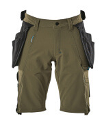 17149-311-33 Shorts with holster pockets - moss green