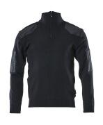 17205-939-010 Knitted Jumper with half zip - dark navy