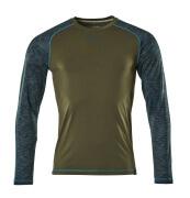 17281-944-33 T-shirt, long-sleeved - moss green