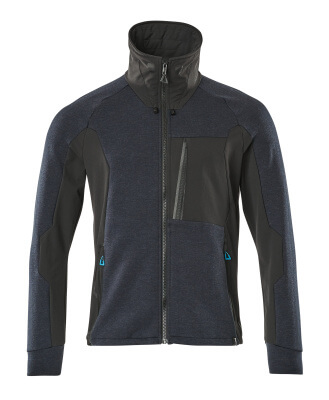 17484-319-09 Sweatshirt with zipper - black