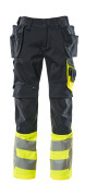 17531-860-01017 Trousers with holster pockets - dark navy/hi-vis yellow
