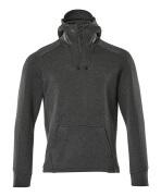 17684-319-09 Hoodie with half zip - black