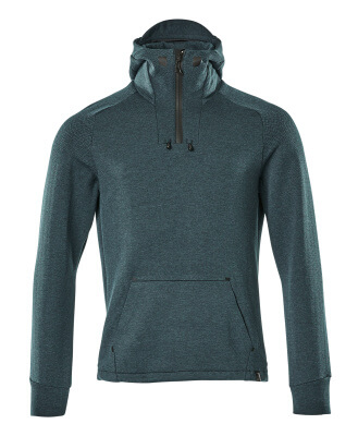 17684-319-09 Hoodie with half zip - black