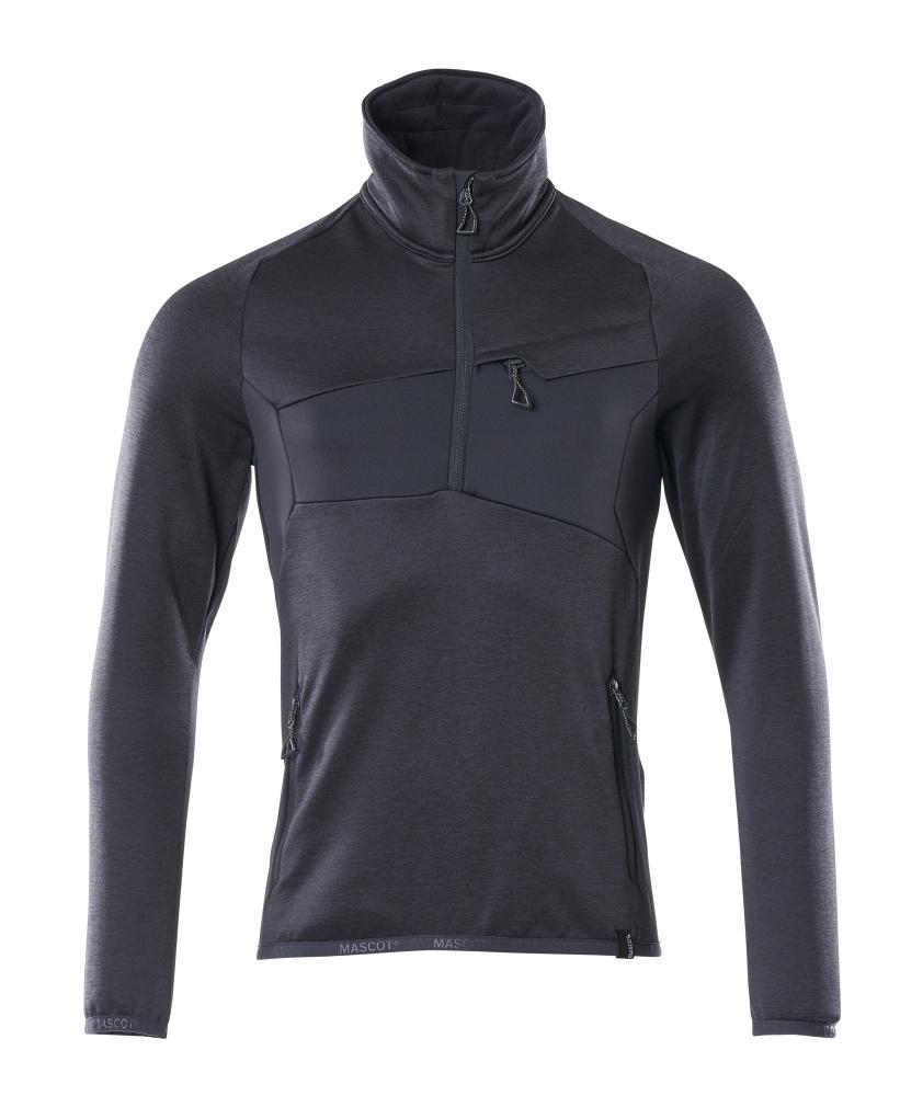18003-316-010 Fleece Jumper with half zip - dark navy