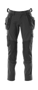 18031-311-09 Trousers with kneepad pockets and holster pockets - black