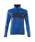 18053-316-91010 Fleece Jumper with half zip - azure blue/dark navy