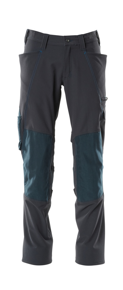 18079-511-010 Trousers with kneepad pockets - dark navy