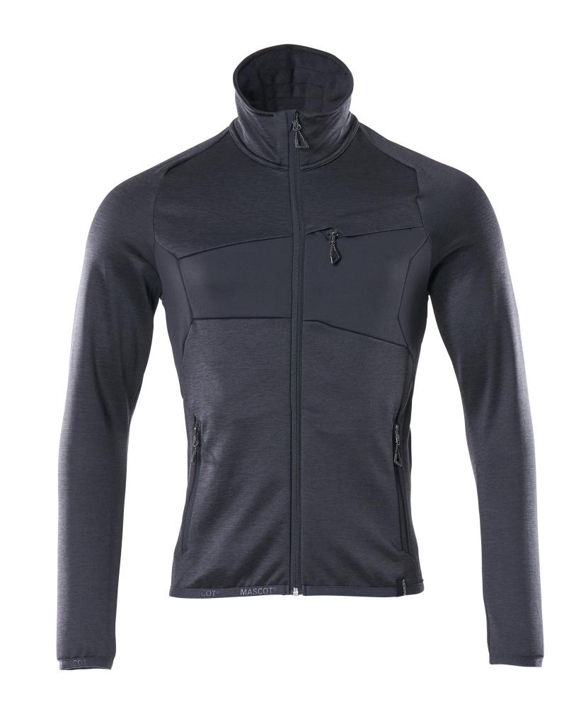 18103-316-010 Fleece Jumper with zipper - dark navy