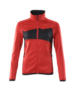 18153-316-20209 Fleece Jumper with zipper - traffic red/black