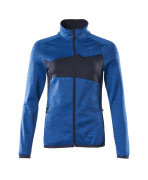 18153-316-91010 Fleece Jumper with zipper - azure blue/dark navy