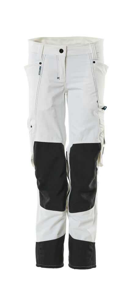 18388-311-06 Trousers with kneepad pockets - white