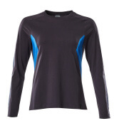18391-959-01091 T-shirt, long-sleeved - dark navy/azure blue