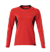 18391-959-20209 T-shirt, long-sleeved - traffic red/black