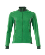 18494-962-33303 Sweatshirt with zipper - grass green/green