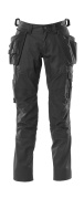 18531-442-09 Trousers with kneepad pockets and holster pockets - black