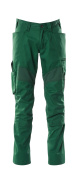 18579-442-03 Trousers with kneepad pockets - green
