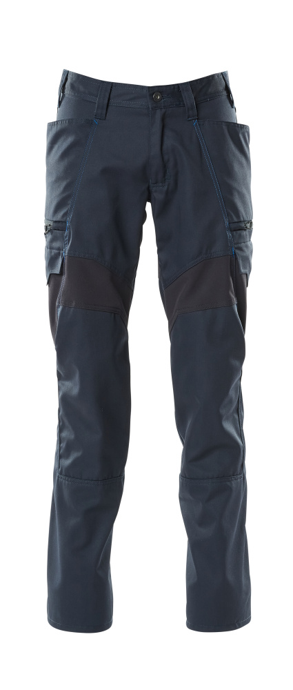 18679-442-010 Trousers with thigh pockets - dark navy