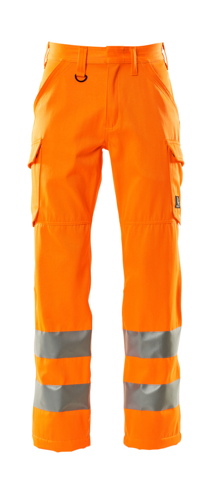18879-860-14 Trousers with thigh pockets - hi-vis orange