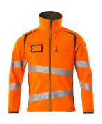 19002-143-1433 Softshell Jacket - hi-vis orange/moss green