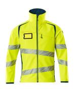 19002-143-1744 Softshell Jacket - hi-vis yellow/dark petroleum