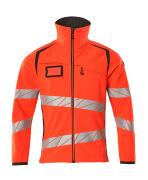 19002-143-22218 Softshell Jacket - hi-vis red/dark anthracite