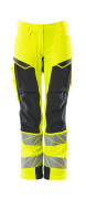 19078-511-14010 Trousers with kneepad pockets - hi-vis orange/dark navy
