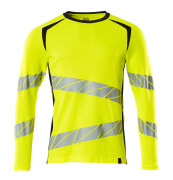 19081-771-14010 T-shirt, long-sleeved - hi-vis orange/dark navy