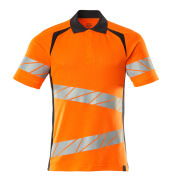 19083-771-14010 Polo shirt - hi-vis orange/dark navy
