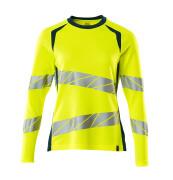 19091-771-1744 T-shirt, long-sleeved - hi-vis yellow/dark petroleum