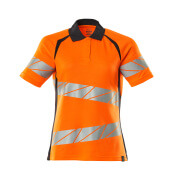 19093-771-14010 Polo shirt - hi-vis orange/dark navy